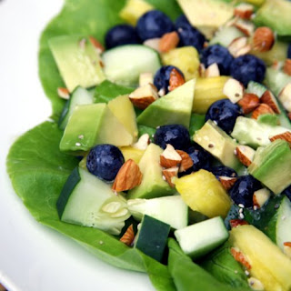 Pineapple Blueberry Salad With Lemon Chia Seed Dressing