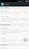 Screenshot of Smart Auto Call Recorder
