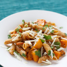 Multi-Grain Pasta with Lamb, Butternut Squash, and Kasseri Cheese