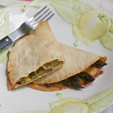 Asparagus Chipotle Quesadillas
