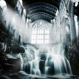 Photo manipulation by Carmen Mok - Digital Art Places ( building waterfall design )
