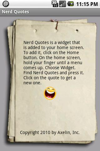 Geeky Nerd Quotes Widget