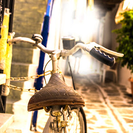 my bicycle by Konstantinos Theodoropoulos - Transportation Bicycles ( paros, d3100, greece, nikon, bicycle, island )