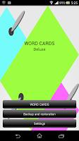 Screenshot of WORD CARDS Deluxe