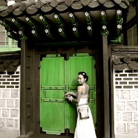 Green Door in Korea by Tyrell Heaton - People Street & Candids ( green, door, korea )