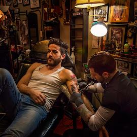 The Tatooist  by Steve Pace - People Body Art/Tattoos (  )