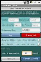 Screenshot of iQuick Debt Payoff