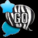 GO SMS - Neon Zebra Sky icon