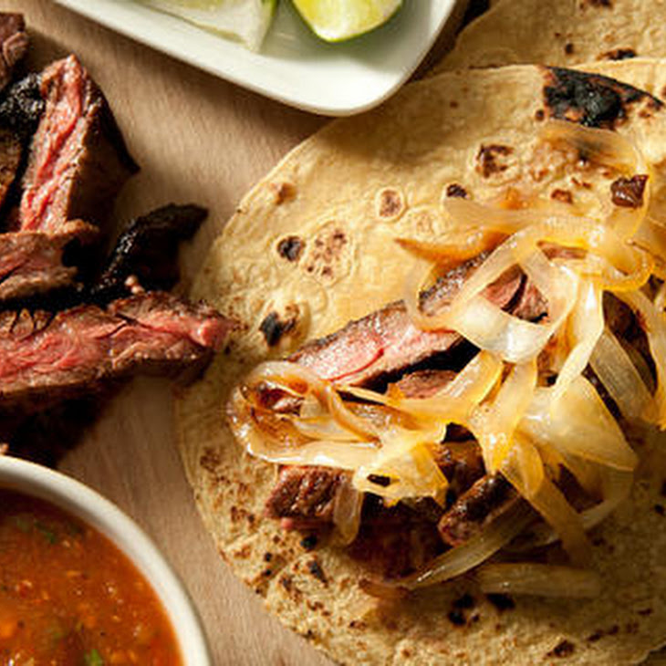 Chipotle Beef Tacos with Caramelized Onions (Tacos de Carne Asada ...