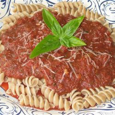 Easy Fusilli with Tomato Pesto Sauce