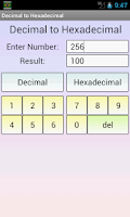 Screenshot of Decimal to Hexadecimal