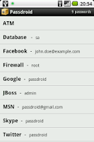 Screenshot of Passdroid