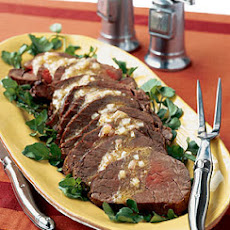 Roasted Beef Tenderloin with Sherry Vinaigrette and Watercress