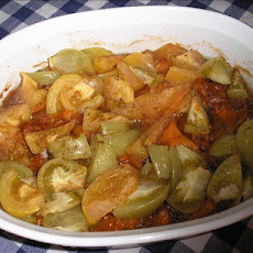 Green Tomato Sweet Potato Bake
