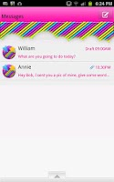 Screenshot of GO SMS - Neon Rainbow Sky