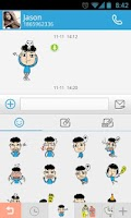 Screenshot of GO SMS Pro Kelvin Sticker