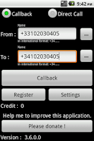 Screenshot of IPCall : Cheapest way to call