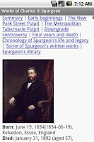 Screenshot of Works of C.H. Spurgeon