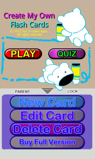 Create My Own Flash Cards Lite