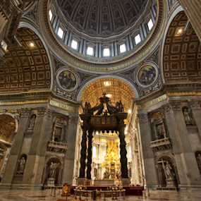 St Peter's by Eric Ebling - Buildings & Architecture Places of Worship ( church, rome, www.nosetothewind.com, vatican, italy, pope )