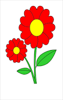 Screenshot of Coloring Book Flower-Kids game