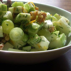 Apple Walnut Dill Salad