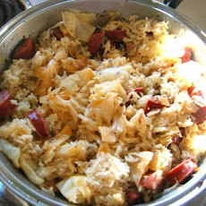 Kielbasa, Cabbage, & Rice Dinner