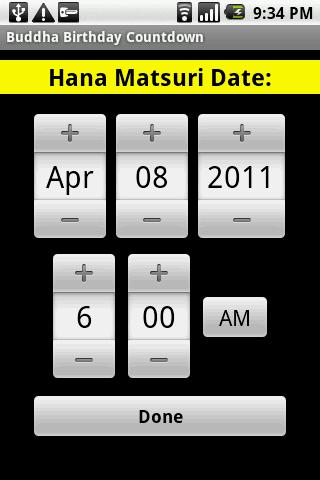 Buddha Birthday Countdown