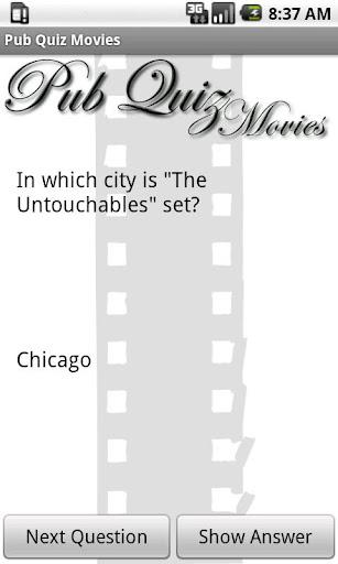 Pub Quiz Movies