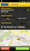 Screenshot of Taxi-Zentrale Basel