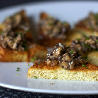 Creamed Mushrooms on Chive Butter Toast
