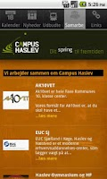 Screenshot of Campus Haslev