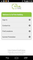 Screenshot of Tulsa Federal GoTime Banking