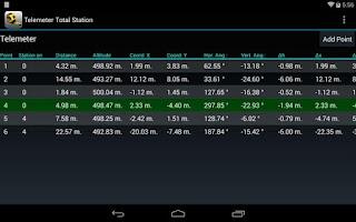 Screenshot of Telemeter Total Station