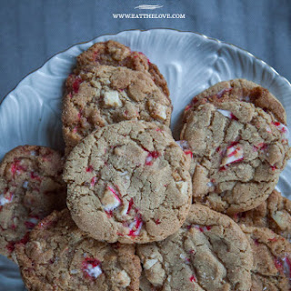 White Chocolate Peppermint Cookies with Sea Salt