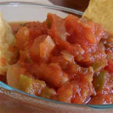 Sweet and Mild Cooked Tomato Salsa