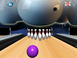 Screenshot of Bowling 3D Game