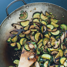 Stir-fried Zucchini & Shiitakes
