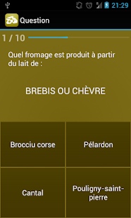 Quizz Fromages - screenshot