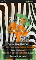 Screenshot of Zebra Keyboard