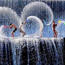 Play Waterfall at Tukad unda - Bali  by DODY KUSUMA  - Babies & Children Children Candids