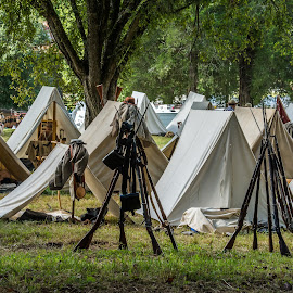 Confederate Encampment by Mike Watts - News & Events US Events ( encampment, 1800's, civil war, confederate )