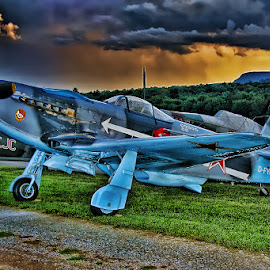 The Fighter by Andy Just Andy - Transportation Airplanes ( colors, air, fighter, war, classic )