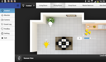 Screenshot of EzControl Demo