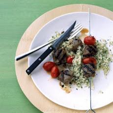Beef and Grape-Tomato Kebabs
