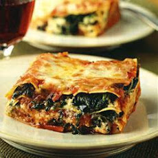 Easy One-step Spinach Lasagne