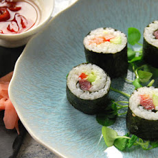Salmon And Tuna Maki Sushi Rolls