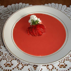 Strawberry Yogurt Soup