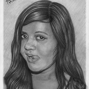 Portrait of one of my friend... by Ashwini Dey - Drawing All Drawing