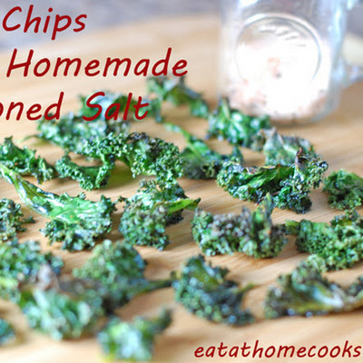 Kale Chips with Homemade Seasoned Salt